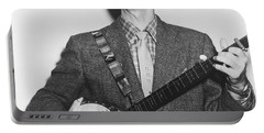 Portrait Of Pete Seeger Portable Battery Charger
