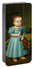 Portrait Of Sally Puffer Sanderson Portable Battery Charger
