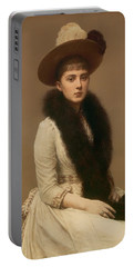 Portrait Of Sonia Portable Battery Charger by Mountain Dreams