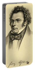 Portrait Of The Composer Franz Schubert Portable Battery Charger