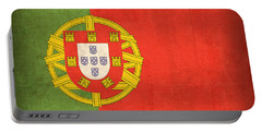 Portugal Flag Vintage Distressed Finish Portable Battery Charger