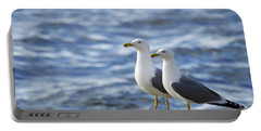 Posing Seagulls Portable Battery Charger