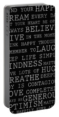 Positive Words Portable Battery Charger by P S