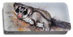Possum Cute Sugar Glider Portable Battery Charger by Sandra Phryce-Jones