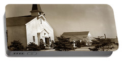 Post Chapel And Red Cross Building Fort Ord Army Base California 1950 Portable Battery Charger