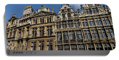 Portable Battery Charger featuring the photograph Postcard From Brussels - Grand Place Elegant Facades by Georgia Mizuleva