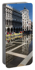 Portable Battery Charger featuring the photograph Postcard From Venice by Georgia Mizuleva