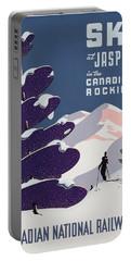 Poster Advertising The Canadian Ski Resort Jasper Portable Battery Charger