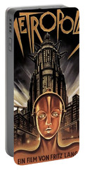 Poster From The Film Metropolis 1927 Portable Battery Charger