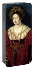 Posthumous Portrait Of Isabella Deste, Marchioness Of Mantua 1474-1539, 1605-8 Oil On Canvas Portable Battery Charger