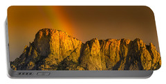 Pot Of Gold Portable Battery Charger by Mark Myhaver