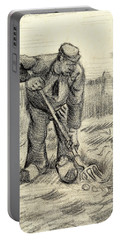 Potato Gatherer Portable Battery Charger by Vincent Van Gogh