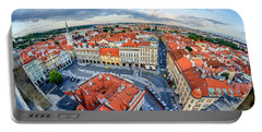 Prague From Above Portable Battery Charger