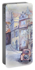 Prague Golden Well Lane Portable Battery Charger
