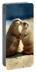 Prairie Dogs Kissing Portable Battery Charger