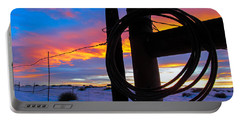 Prairie Fence Sunset Portable Battery Charger