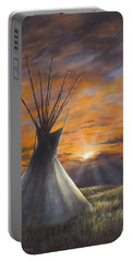 Prairie Sunset Portable Battery Charger