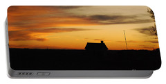 Prairie Sunset Portable Battery Charger by Mary Carol Story