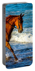 Prancing In The Sea Portable Battery Charger by Shannon Harrington