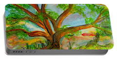 Prayer Mountain Tree Portable Battery Charger