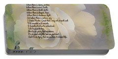 Prayer Of St. Francis And Yellow Rose Portable Battery Charger