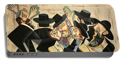 Praying Rabbis Portable Battery Charger