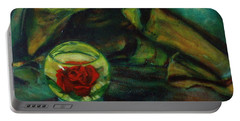 Preserved Rose . . Draped Canvas Portable Battery Charger by Sean Connolly