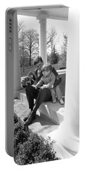 President Kennedy And John-john Portable Battery Charger