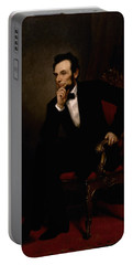 President Lincoln  Portable Battery Charger by War Is Hell Store