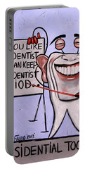 Presidential Tooth Dental Art By Anthony Falbo Portable Battery Charger
