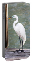 Pretty Great Egret Portable Battery Charger
