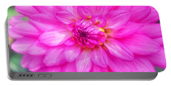 Pretty In Pink Dahlia Portable Battery Charger