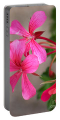 Pretty In Pink Portable Battery Charger by Eunice Miller