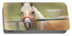 Pretty Palomino Horse Photography Portable Battery Charger