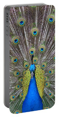 Pretty Peacock Portable Battery Charger by P S