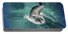 Portable Battery Charger featuring the photograph Pretty Pelican by Pennie  McCracken