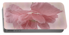 Portable Battery Charger featuring the photograph Pretty Pink Poppy Macro by Sandra Foster