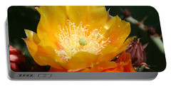 Prickly Pear Blossom Portable Battery Charger by Ellen Henneke