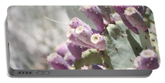 Prickly Pear Cacti Portable Battery Charger by Andrea Hazel Ihlefeld