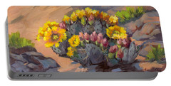 Prickly Pear Cactus In Bloom Portable Battery Charger