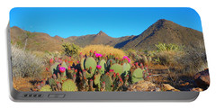 Prickly Pear Cactus In Spring Portable Battery Charger