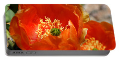 Prickly Pear In Bloom Portable Battery Charger