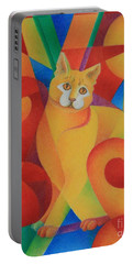 Primary Cat II Portable Battery Charger by Pamela Clements