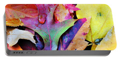 Portable Battery Charger featuring the photograph Primary Colors Of Fall by Judy Palkimas