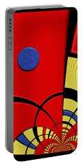 Portable Battery Charger featuring the digital art Primary Motivations 3 by Wendy J St Christopher