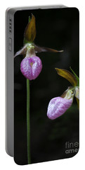 Prince Edward Island Lady Slippers Portable Battery Charger by Verena Matthew