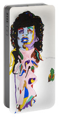 Portable Battery Charger featuring the painting Prince Purple Reign by Stormm Bradshaw