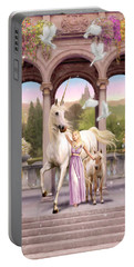 Princess Of The Unicorns Variant 1 Portable Battery Charger by Garry Walton