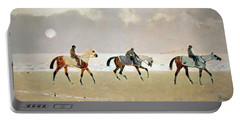 Princeteau's Riders On The Beach At Dieppe Portable Battery Charger by Cora Wandel