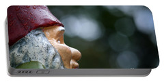 Profile Of A Garden Gnome Portable Battery Charger